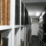 Étagères de registres et dossiers